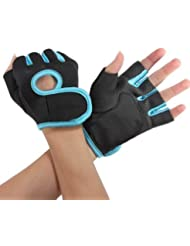 Guantes Multifuncionales,EONPOW Almohadilla de espuma de amortiguación guantes de bicicleta Medio dedo guantes guantes de levantamiento de pesas