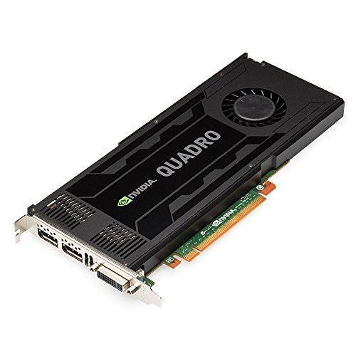 PNY NVIDIA QUADRO K4000 professionelle Grafikkarte 3 GB GDDR5 PCI-Express 2 x DP + DVI + Stereo (VCQK4000-PB)