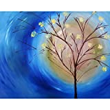 #6: Pitaara Box Fall Tree Against Blue Swirling Sky - MEDIUM Size 20.2 inch x 16.0 inch - FRAMED CANVAS Wall Paintings with 6mm (0.24 inch) THICK MDF MOUNTING FRAME : DIGITAL PRINT Wall Posters Art Panel like Hand Paintings : Home Interior Wall Décor Photo Gifts & Decorative Paintings for Bedroom, Living Room, Drawing, Dining Room, Kitchen, Office, Reception, Bathroom, Outdoor, Gallery, Hotels, Restaurants, & Balcony : Abstract : Fine Art Reprint