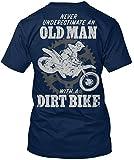 Stylisches T-Shirt Damen / Herren / Unisex - 4XL - Old Man with a Dirt Bike