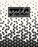 Agenda: 2018 Agenda settimanale italiano : 19x23cm : Triangoli astratti in bianco e nero: Volume 2