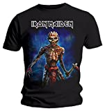 Iron Maiden T Shirt The Book Of Souls European Tour Axe Eddie 2017 new Official Licensed Mens Unisex Black