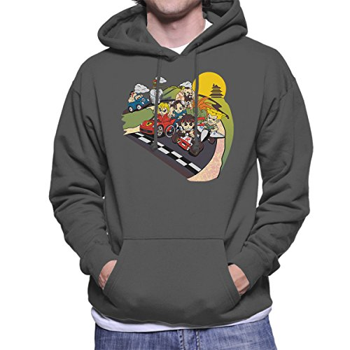 Preisvergleich Produktbild Super Fighting Kart Street Fighter Mario Men's Hooded Sweatshirt