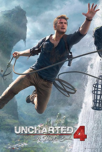 empireposter 740205 Uncharted 4 - Jump - Game Video gioco Poster Stampa, Carta, Multicolore, 91,5 x 61 0,14 cm