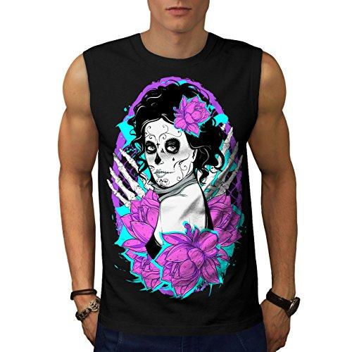 nochen Horror Herren S Ärmellos T-shirt | Wellcoda (Shake Dem Halloween Knochen)