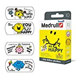 Medrull Pflaster für Kinder Mr HAPPY 25 x 57mm Bunt Tattoo