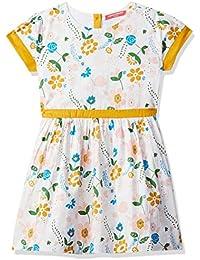 Amazon Brand - Jam & Honey Cotton Empire Girls Dress