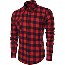 on sale c6b65 d67bf Amazon.it: camicia rossa e nera a quadri - Rosso