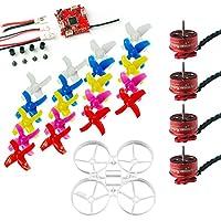 FEICHAO 75mm Indoor Brushless Whoop Racer Drone Combo Set Mini Frame Kit Crazybee ESC SE0703 Motor 4-Blades Propeller