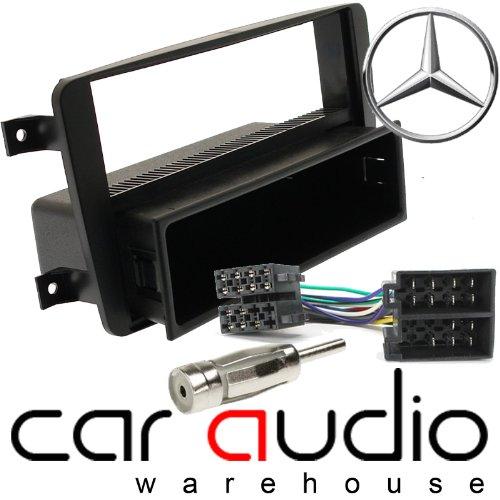 T1 Audio T1-24MB, 01 - Mercedes Benz C W203 2000 Stück Klasse - 2004 Single DIN Blende Blende Gardinenschal Platte & Antenne Adaptor PACK