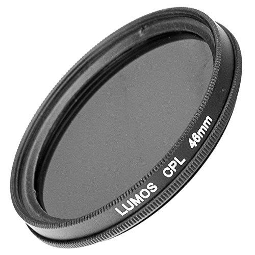 LUMOS Polfilter zirkular 46mm Slim | Kamera Objektiv CPL Pol Filter Polarisationsfilter | optisches Glas schmale Metallfassung Frontgewinde 46 mm für Olympus Panasonic Sigma Sony (Kamera Slim Sony)