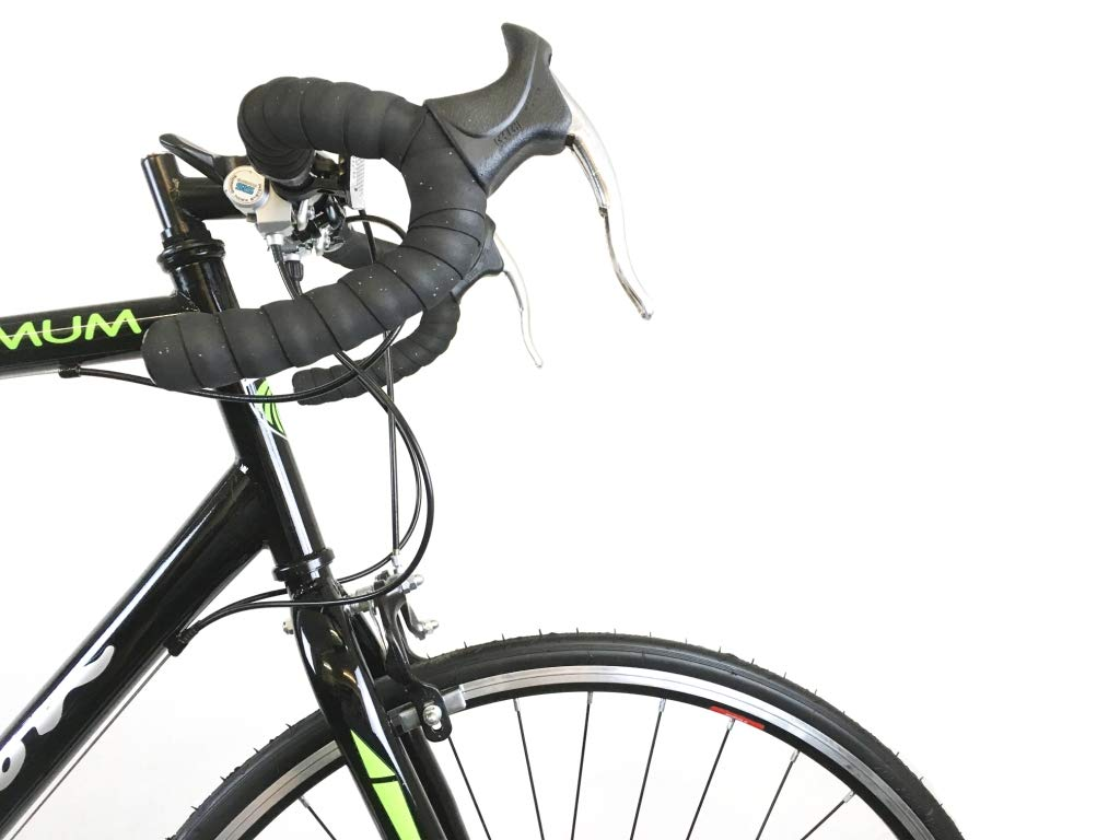 512WH0%2B6lwL - Falcon Optimum Mens Road Racing Bike - Black/Green
