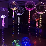 Best Party Supplies - LED Strip Transparent Bobo Light Balloon Wedding Anniversary Review