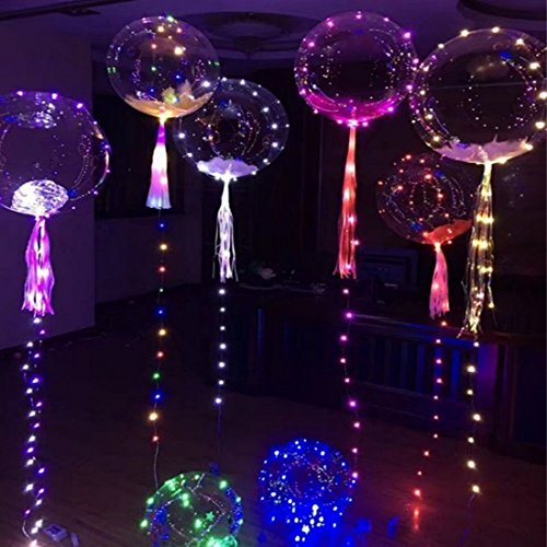 QIANGUANG® LED Streifen Blinkende Transparente Bobo Light Confession Ballon Vorschlagen Hochzeitstag Club Birthday Party Kids Supplies (1PC)