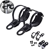 ANAY 2X Black Universal Motorcycle Turn Signals Relocation Fork Clamps Mount Light Holder Lamp Mount Bracket 27mm-31mm