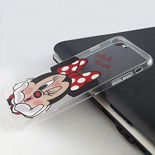 "VComp-Shop® Transparente Silikon TPU Handy Schutzhülle mit Motiv Cartoon Disney für Apple iPhone 7 Plus 5.5"" - Stitch Minnie Mouse + Mini Eingabestift"