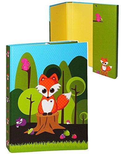 ammelmappe - für A4 - Fuchs & Waldtiere - für Hefte, Zeitschriften, Zeichnungen ... / Ringbuch - Kinder Mädchen Jungen / Tiere - Mappe Ordnungsmappe.. ()
