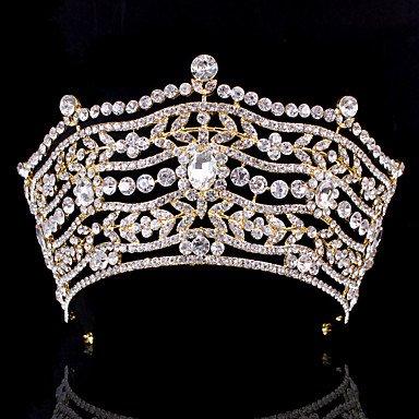 Luxus Damen Strass Hochzeit Braut Diademe Ohrring Set Party Kopfstück