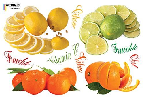 Wandtattoo Küchenrückwand Zitronen