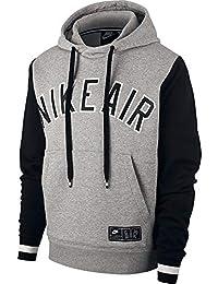 factory authentic b8298 81dab Nike Sportswear Air Hoodie Po Fleece Felpa Uomo, Dark Grey Heather Black,  XXL