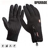 Schonee Fahrradhandschuhe Winter Wasserdichte Handschuhe Touchscreen Warme Fleece für Outdoor Sport Herren Damen