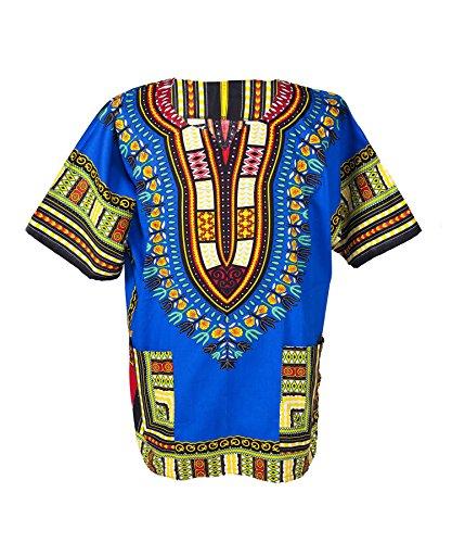 Lofbaz Unisex Dashiki Tradicional De Impresión de África Camisa Hipp