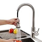 Homelody Küchenarmatur ausziehbarer Wasserhahn Küche Armatur Brause Spültischarmatur Mischbatterie Spülbecken Spültischbatterie