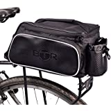 BTR Rear Rack Pannier Bike Bag. Water Resistant, Fits Most Racks & Bicycles. Black Water Resistant Polyester With 10 Litre Capacity