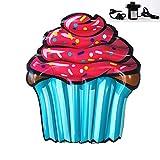 GYFY Cupcake Floating Row Adulto Nuoto Anello Gonfiabile Forniture d'Acqua PVC Salvagente Galleggiante Letto reclinabile (Inviare Pompa dell'Aria Auto)
