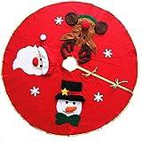 LQZ Weihnachtsbaumdecke Christbaumdecke Baumdecke Christbaumständer Weihnachtsschmuck Bodendekoration Rot Weihnachten Karneval 100cm