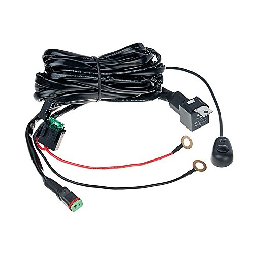 Top-Longer DT Connector 40A Off Road LED Light Bar Wiring Harness Relay with ON/OFF Light Switch 3M (1 Lights)