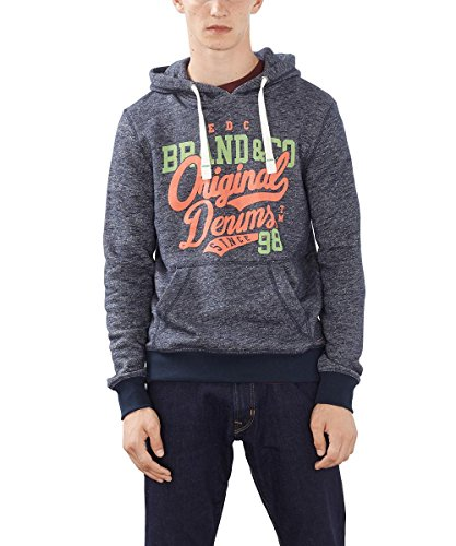 edc by ESPRIT Herren Sweatshirt 996CC2J904, Blau (Navy 400), Medium
