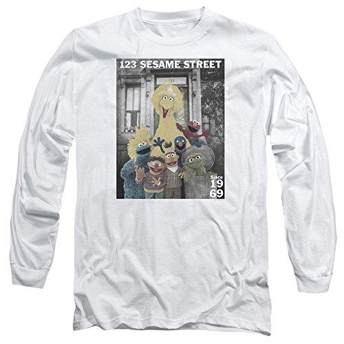 Sesame Street -  Maglia a manica lunga  - Uomo White