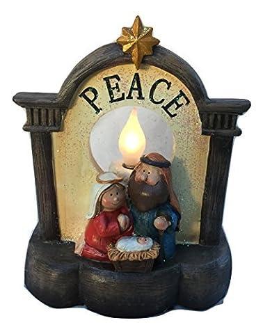 Weihnachten Herkunft Frieden Lampe Ornament Dekoration Heilig Familie Kerze hell. Baby Jesus, Maria & Joseph