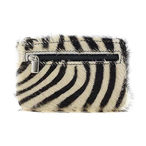 Zebra-Geldbörse mit Schlüsselanhänger
