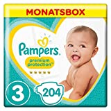 Pampers Premium Protection Gr.3 Midi 6-10kg MonatsBox,204 Stucke