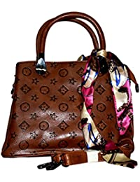 Rahseh Hand Bag With LV Design Print With Ribbon And Latest Beautiful Stylish Partywear Casual Daily Sling Bag...