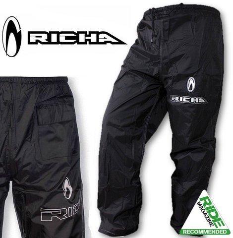 Richa Rain Warrior - Motorrad Regenhose - Überhose - Schwarz - XXL