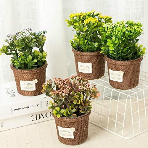 Shopmeeko GRAINES: 2pcs / lot Nouveau Mode Haute imitation de fleurs artificielles en céramique Pot Bonsai Miniascape Fig usine Accueil & amp; Décoration Fleur