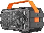 مكبر صوت بلوتوث، مكبر صوت محمول بتقنية البلوتوث Bugani M90 مع صوت ستيريو 30 وات ومؤشر عميق، تشغيل طويل الأمد،