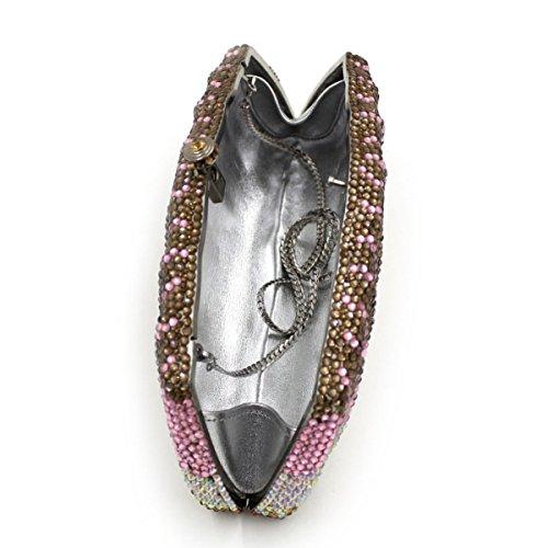 Sacchetto Di Mano Di Cristallo Di Lusso Del Sacchetto Di Sera Di Diamante Delle Donne OneColor