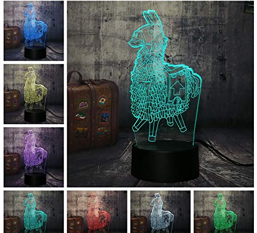 3D Nachtlicht Trojaner Brust Große Escape Spiel Tischlampe 7 Farbe 3D Led Nachtlicht Junge Kind Weihnachtsgeschenk Dekoration (Kinder Brust Spielen)
