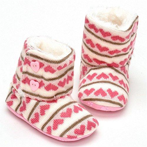 ESTAMICO , Baby Jungen Lauflernschuhe khaki 6-12 Monate Pink Knit