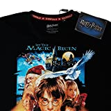 Harry Potter T-Shirt pour Hommes Rock of The Wise Poster Forêt des Elfes Coton Noir
