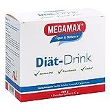 MEGAMAX Diät-Drink mit Protein, Ballaststoffen Glucomannan und Inulin, Vitaminen und Mineralien. Laktosefrei. Hergestellt in Deutschland.