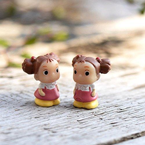 5pz Miniatura Dollouse Fata Giardino Micro Paesaggio Bonsai Grasso Arredamento Ragazza
