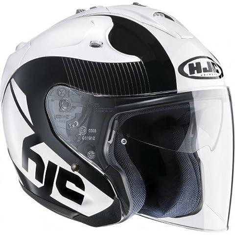 HJC Casque Moto FG Jet Acadia MC5, Noir/Blanc, Taille