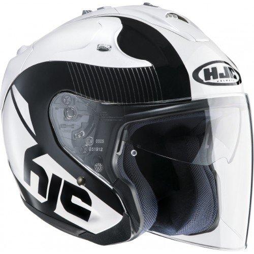 HJC 144005M Casco Moto, Bianco, M