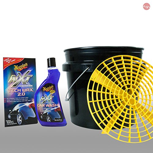 MEGUIAR'S_bundle Meguiars Autopflege Putzeimer Grit Guard + NXT Car Wash Shampoo + NXT tech Wax 2 -