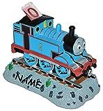 Unbekannt Sparbüchse - Thomas die Lokomotive - incl. Namen - stabile Spardose aus Kunstharz - Sparschwein Zug Eisenbahn Percy James und seine Freunde für Jungen Kinder